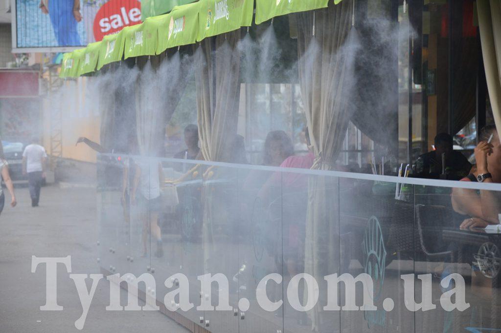 система туманообразования для кафе баров и ресторанов, система туман