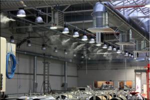 Системы туманного охлаждения в промышленности