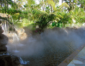 Система туманообразования для охлаждения территории