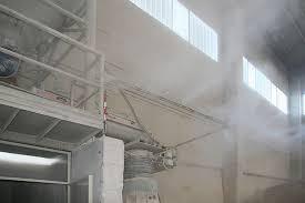 Подавление пыли на производствах искусственным туманом