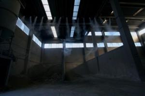 Пылеподавление с помощью системы туманообразования