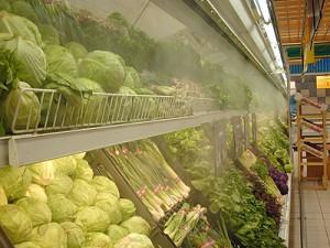 Системы туманообразования в торговых павильонах