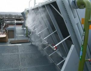 Промышленное охлаждение системой тумана