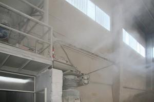 Подавление пыли на промышленных предприятиях системой тумана