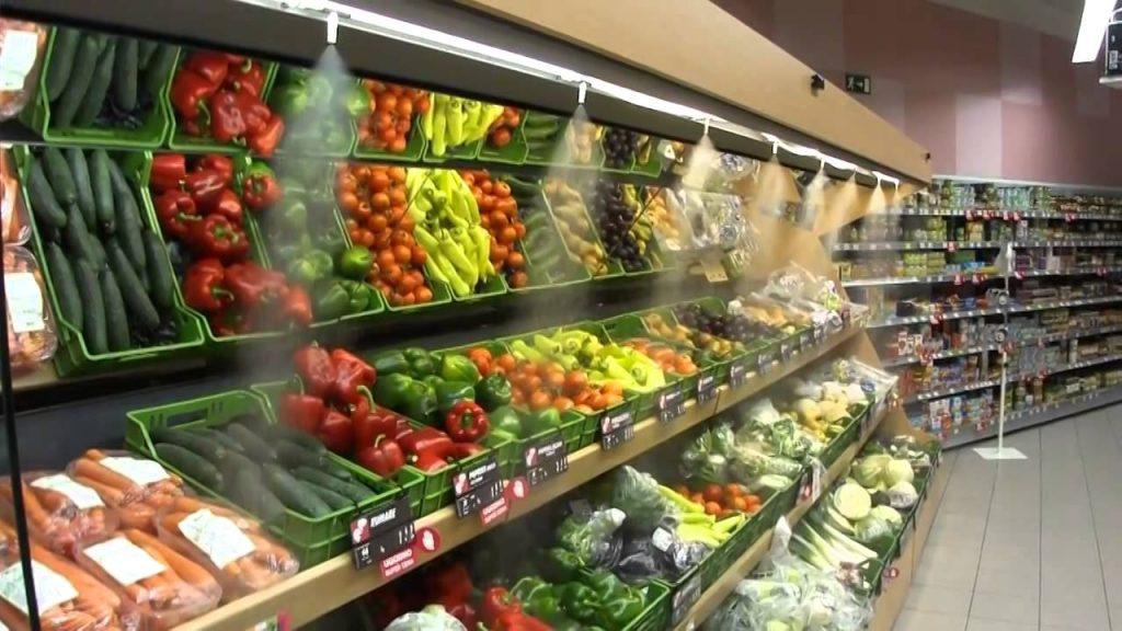 Система туманообразования для хранения продуктов