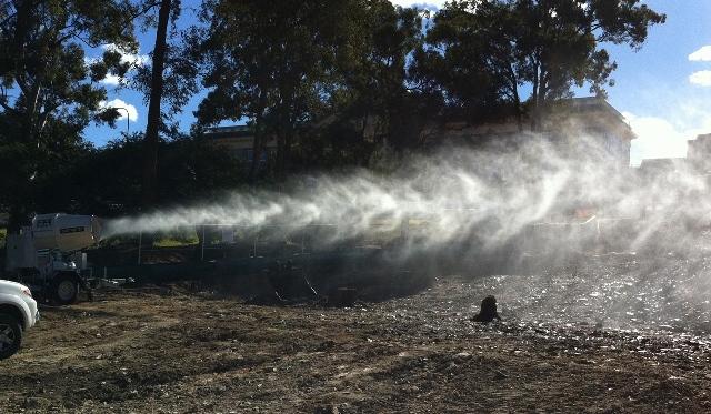 Система искусственного тумана для подавления пыли