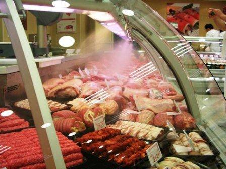 Система искусственного тумана в продовольственных магазинах