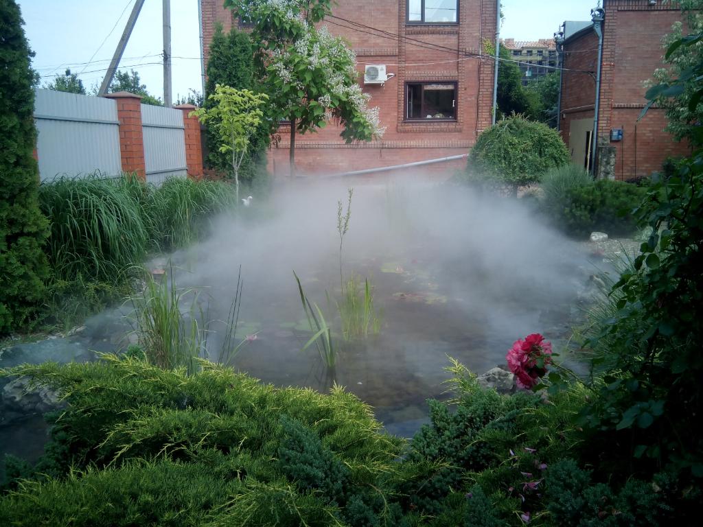 Декоративное применение системы туманообразования
