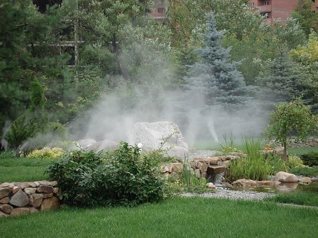 Система тумана в ландшафтном дизайне