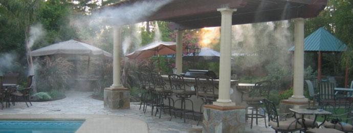 Туманообразующие системы в летних общественных заведениях