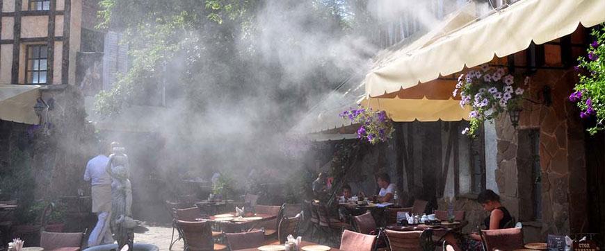 Установка систем искусственного тумана