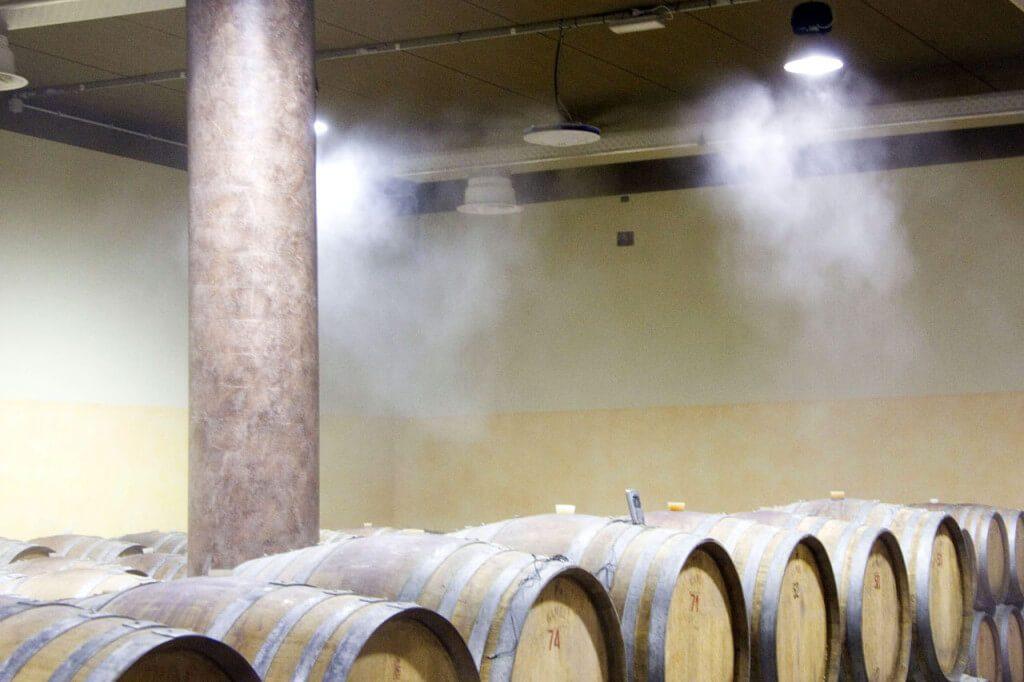 Система тумана в винном погребе