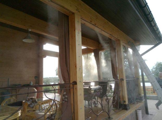 Установка системы туманообразования в кафе